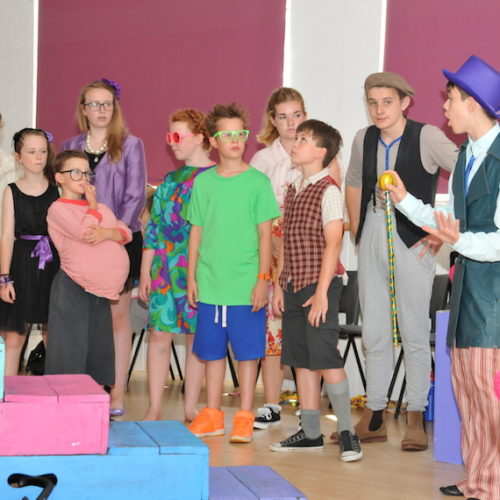 shine time students Charlie and the chocolate factory performance